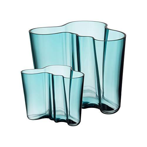 Iittala Alvar Aalto Collection Vasenset, 160 mm + 95 mm, Seeblau