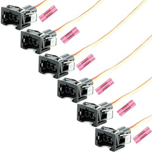 Overdrive-Racing 6x Reparatur Stecker Kabel Einspritzdüse Einspritzventil Universalstecker Passend Für Bosch EV1 037906240 037 906 240
