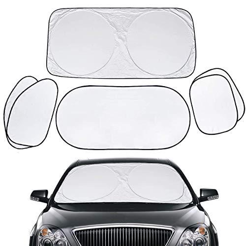 Barrageon Auto Sonnenschutz Scheibenabdeckung Frontscheibenabdeckung Windschutzscheiben Scheibenabdeckung Shades Fenster Visier Blockiert UV Strahlen Faltbar SUV Lastwagen Universal (6 PCS Set)