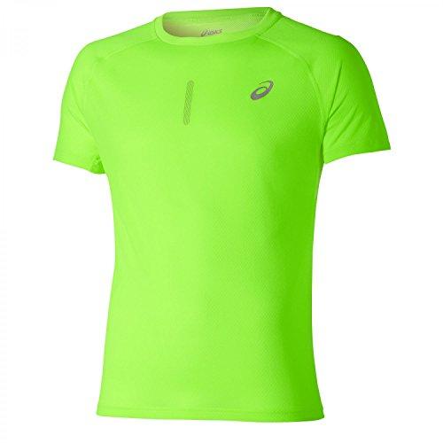 ASICS L2 - Camiseta de Manga Corta para Hombre, Color Verde,...