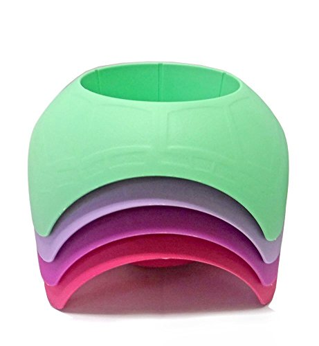 Beach Vacation Accessory Turtleback Sand Coaster Drink Cup Holder (Pastel) Pack of 4