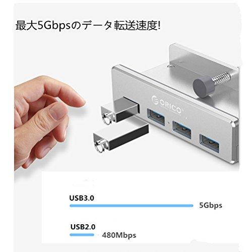 ORICO『クリップ式USB3.04ポートハブ』