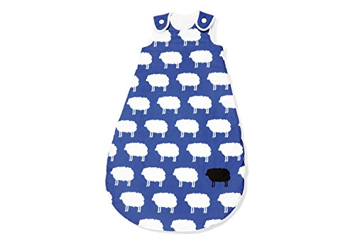 Pinolino 76522-1W110 - Kugelschlafsack Winter 110 cm, 'Happy Sheep' blau