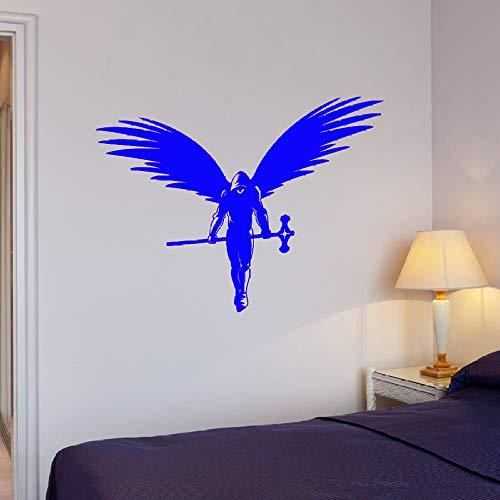 yuandp Engel Muurtattoo kruiwagen fantasy Mythos kunst kamer vinyl venster sticker slaapkamer woonkamer cool stijl muurschildering 57x75 cm C
