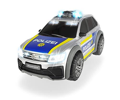 Dickie Toys 203714013 VW Tiguan R-Line, Polizeiwagen mit Licht & Sound, Polizeiauto, Polizei, inkl. Batterien, 25 cm, ab 3 Jahren, Mehrfarbig
