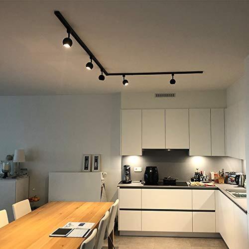 QAZQA Sistema de raíl monofásico moderno negro 5 focos - GISSI Aluminio/Acero Alargada Adecuado para LED Max. 5 x 50 Watt