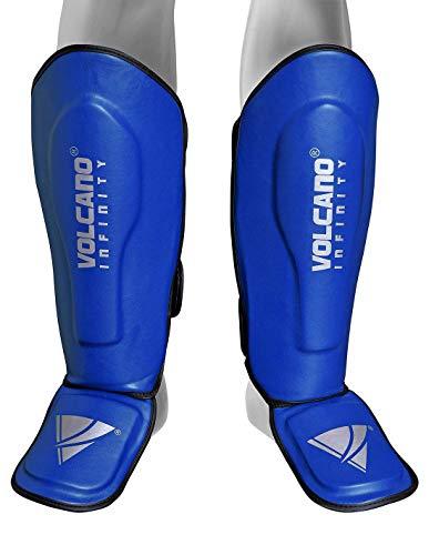 Islander Moden Thai-Boxen Schienbeinschoner Bein Rist Pads MMA Fu�schoner Kick Boxing Protector Blue One Size