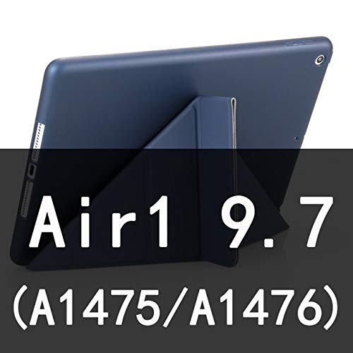 QiuKui Tab Cover For Ipad Air 2 /Air 1, Auto Sleep/Wake up 5 Shapes Stand Thin PU Leather Cover Soft Case For iPad 9.7 2017/2018 5/6 th (Color : Dark blue Air)