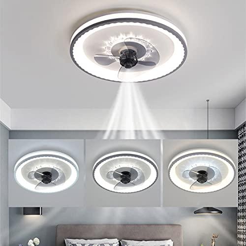 HMAKGG 75W Ventilador De Techo Con LED Luz, Ventilador de Regulable Moderna Con Mando A Distancia,3 Velocidad Del Viento Ajustable y Temporizador para Dormitorio Salón Comedor Ø49cm