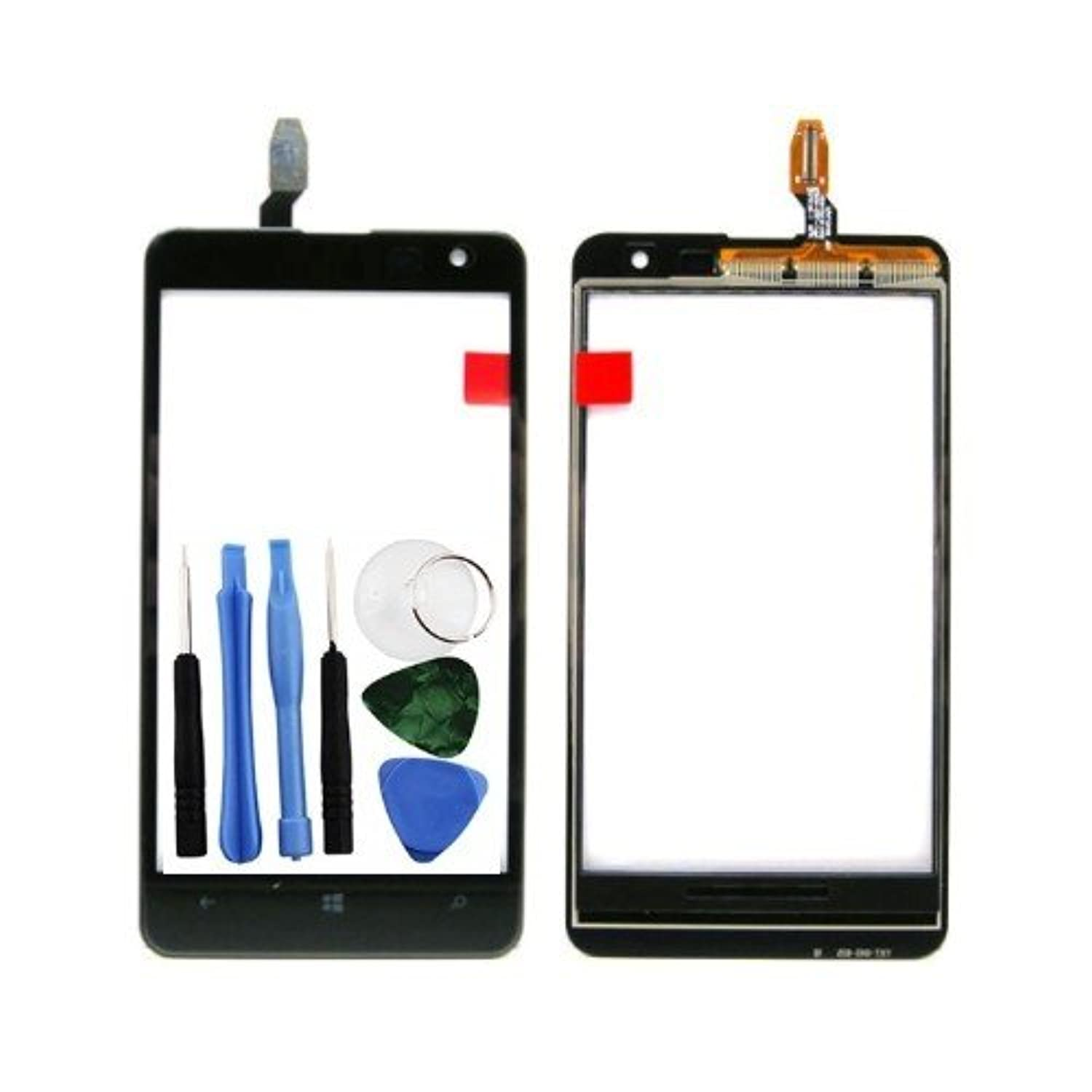 BisLinks? Black Touch Glass Lens Screen Digitizer Panel Replacement For Nokia Lumia 625