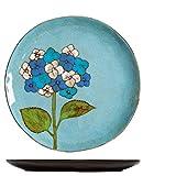 GYCZC Piatto Piatto in Ceramica Dipinto A Mano Creativo Set di Piatti per La Casa di Colore Sottosmalto Piatto Rotondo Piatto Piatto da Tavola Piatto Decorativo