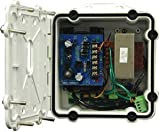 Rugged Cast Aluminum Power Box; PB24 with Battery Back up, Pole Mount Clips