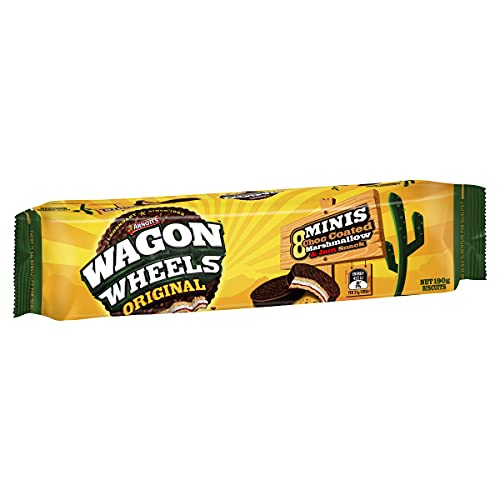 Arnott's Original Mini Wagon Wheels, Marshmallow, Jam and Biscuit, 190 g