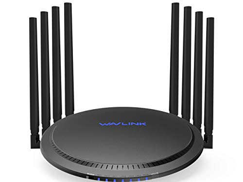 WAVLINK AC3000 WiFi Router,MU-MIMO Tri-Band Wireless Gigabit Router/High Speed Smart WiFi Long Range Extender,4K Streaming with USB 3.0 Ports for Gaming Router,Parental Control&QoS