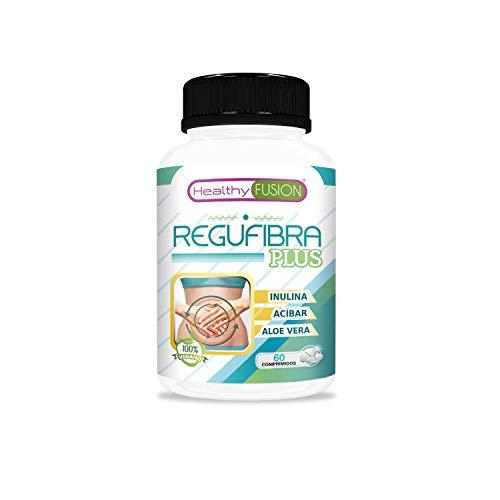 Prebiótico con aloe vera e inulina [10 mil millones UFC] | Regula el tránsito intestinal y mejora la digestión | Efecto detox | Previene el estreñimiento | Depura y elimina toxinas | 60 unidades
