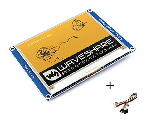 Tri-Color 4.2inch E-Ink Display Module Resolution 400x300 Three-Color Yellow/Black/White E-Paper Electronic Screen Panel SPI Interface for Raspberry Pi/Jetson Nano/Arduino/STM32