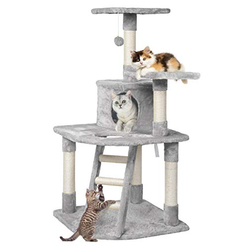 YAHEETECH 48in Cat Tree Cat Tower Stand House Furniture Kitty Activity Cwith Spacious Condo, Cozy...