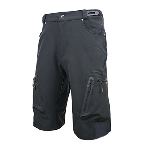 Blike Mes's Mountain Bike MTB Cycling Loose Fit Shorts Black M