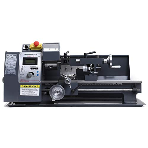 Orion Motor Tech 600W Torno de Metal 8x14 Pulgadas/210x350mm Mini Torno de Metal Velocidad Variable 2500RPM Metal Lathe para Mecanizar Metales(8x14 Pulgadas)