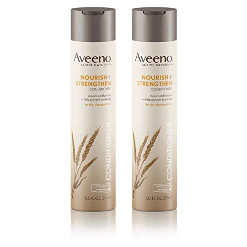 Price comparison product image Aveeno Nourish+ Strengthen Conditioner,  To Help Prevent Breakage,  10.5 fl. oz (Pack of 2)
