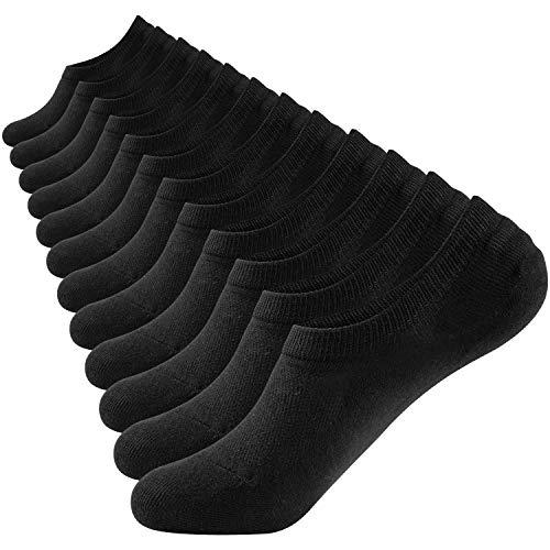 Glamexx24 12 paar comfortabele heren & dames sneaker korte sokken zwart grijs wit maat 35-46