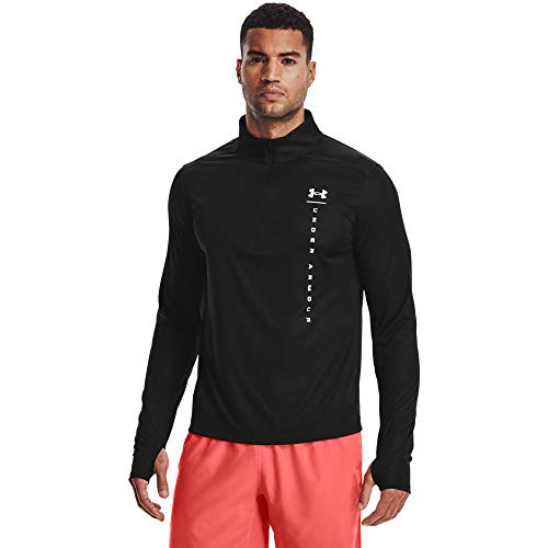 Under Armour Camiseta UA Speed Stride Shock Hz para Hombre, Hombre, Camiseta, 1356174-003, Negro/Blanco, Medium