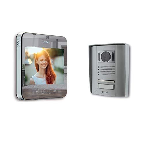 Extel, Videocitofono'Quattro', con superficie specchiata, a 2 fili