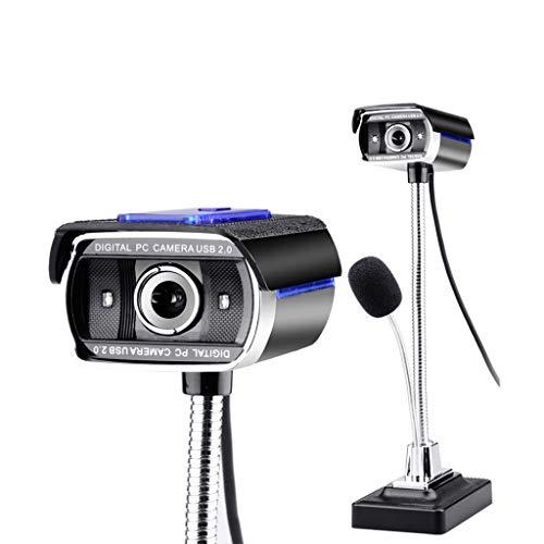 Personal emisión en Directo de iluminación de Dos Colores en Vivo Juego con el micrófono de cámaras Aula en línea portátil USB grabación de la reunión Ordenador de Mesa /