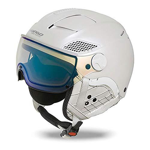 MANGO Quota skihelm voor volwassenen, wit, S 55-57