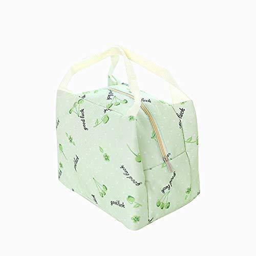 qearly schoen Oxford Fabrics Sac à repas réutilisable Cooler Bag enfants Snack adultes Sac de pique-nique isolée de mort Vert