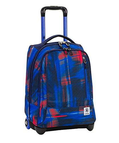 WHEELED INVICTA – TINDY – Fantasy Red Blue – Trolley Rugzak School Travel 36 LT – Totaal verdwijnende schouderbanden!