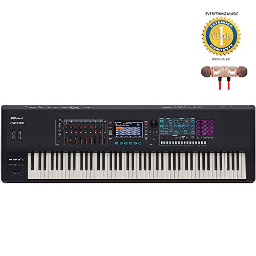 Check Out This Roland FANTOM-8 88-Note Workstation Keyboard Includes Free Wireless Earbuds - Stereo ...