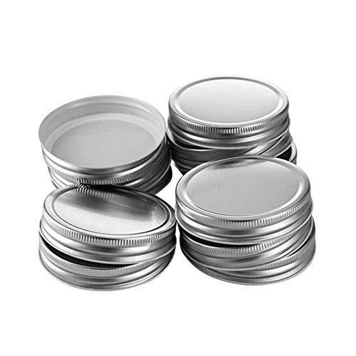 Herbests Tapas de repuesto para tarros y botellas de cristal, botellas de leche y conservas, 70 mm, 12 unidades