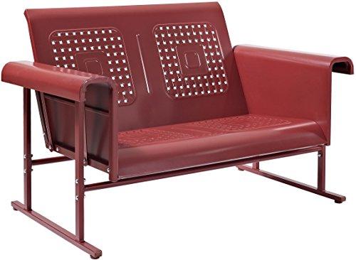 Hot Sale Red Retro Veranda Loveseat Glider - Classic Comfort