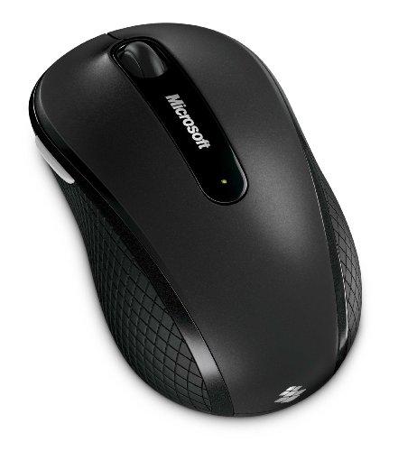 マイクロソフト ワイヤレス ブルートラック マウス Wireless Mobile Mouse 4000 ストーン ブラック D5D-00014。