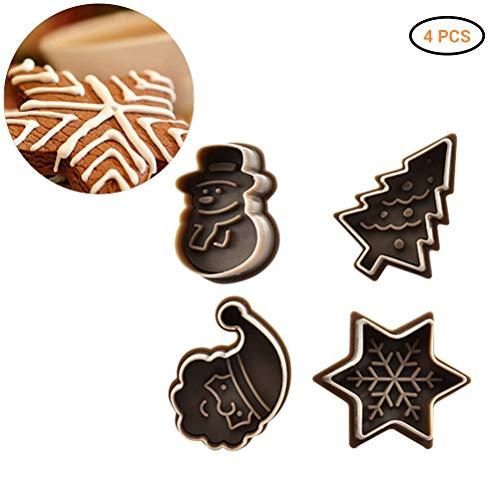 4 vormen Kerstmis chocoladekoeken gelei ijs siliconen fondant vorm bakken, Halloween motief DIY fondant snoepvorm