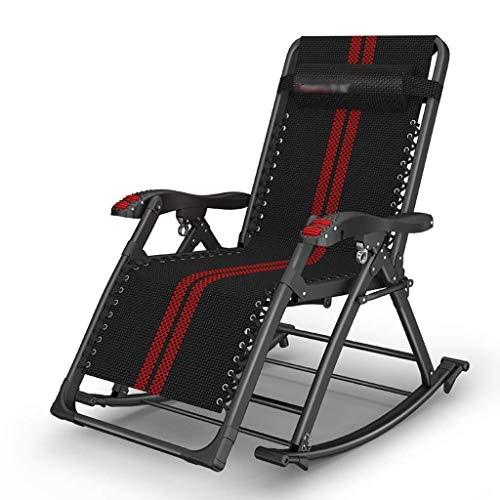 HLR Zero Zwaartekrachtstoel schommelende ligstoelen, ontspannende fauteuil, verstelbare voetsteun en rugleuning, Ferroalloy Tube Rack, geen noodzaak om ligstoelen ligstoelen te installeren