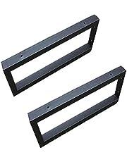 2 x Stevige Plankdragers, Stevige Vierkante Zwevende Plankdragers, Max. Belasting: 100kg, Industriële Plankdragers, Zwart/Wit, met Schroeven