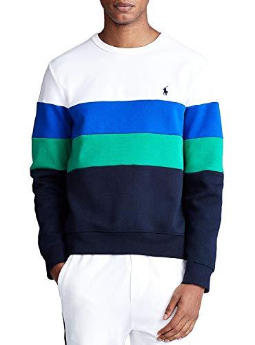 Polo Ralph Lauren Sweatshirt Colorblock weiß, Weiß Large