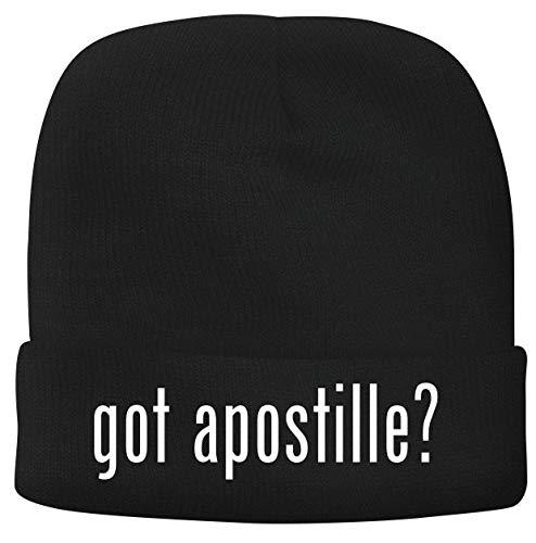 BH Cool Designs got Apostille? - Men's Soft & Comfortable Beanie Hat Cap, Black, One Size