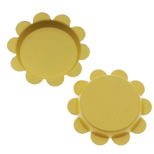 Beadaholique New Yellow Flower Bottle Caps Craft Scrapbook Jewelry No Liners 25mm (24)