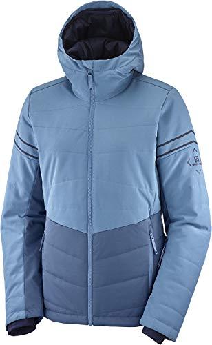 SALOMON Edge Jacket W Chaqueta Acolchada, Azul (Dark Denim), Talla S...
