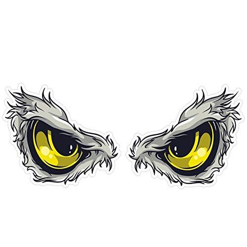 2 pares engomada del coche 3D estéreo en los coches reflectantes de aves Hawkeye Eagle Eyes Side Car Fender Etiqueta Espejo retrovisor de Windows Decal
