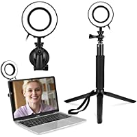 Video Conference Lighting Kit with Tripod Stand & Suction Cup