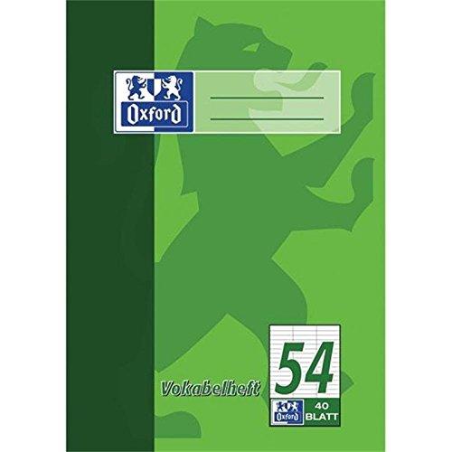 Oxford 100050337 Vokabelheft LIN54 - A4, 40 Blatt, liniert