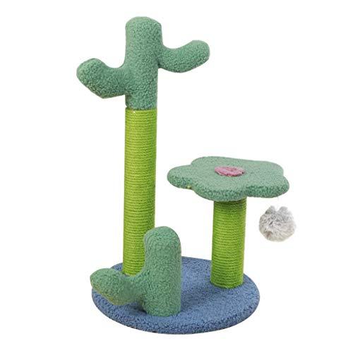 YLHXYPP Cactus Gatos árbol Poste para rascar Gatito Marco de Escalada rascador de Juguete Centro de Actividades Juguetes de Bolas Colgantes para Gatos de Interior (Color :...