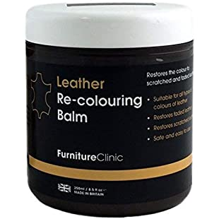 Leather Recolouring Balm (Cream) for Sofas, Cars, Shoes and Clothing - The Best Leather Care -Renew and Restore Color to Faded and Scratched Leather on Boots, Handbags, Jackets, Saddles