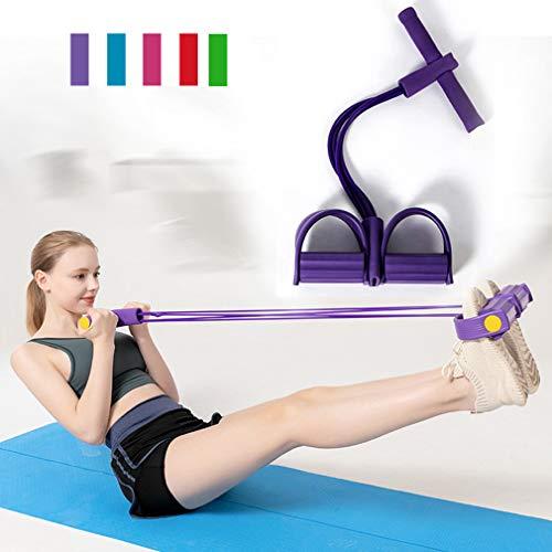 Yoga-Gurt für Stretching-Fitness-Bänder, 4 Röhren, Naturlatex, Fußpedal, elastische Bänder für Übungen, Seil mit Griff, Fitness-Ausrüstung, um fit zu halten und Gewicht zu verlieren, a