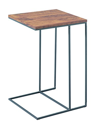 ASPECT Alana Wooden Top Side End Laptop Table/Sofa Couch Console Stand, Steel Vintage, 40x40x60 cm