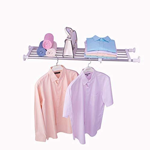 Hershii Tension Shelf Expandable Rod Closet System 5-Bar Telescopic Heavy Duty Clothes Hanger Adjustable DIY Storage Organizer Shoe Rack